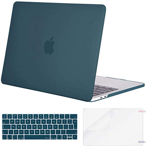 MOSISO MacBook Pro 13 Case 2019 2018 2017 2016 Release A2159 A1989 A1706 A1708, Plastic Hard Case & Keyboard Cover & Screen Protector Compatible with MacBook Pro 13, Deep Teal