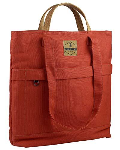 Kuratist 3-in-1 Convertible Canvas Totepack Rucksack (14L) Wasserabweisend (geeignet für 13.3