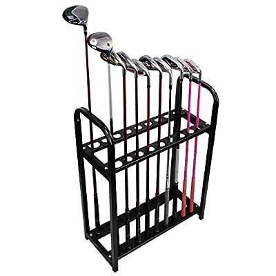 KOFULL Golf Club Organizers Solid Wood Golf Club Display Shelf-Store 10 Clubs