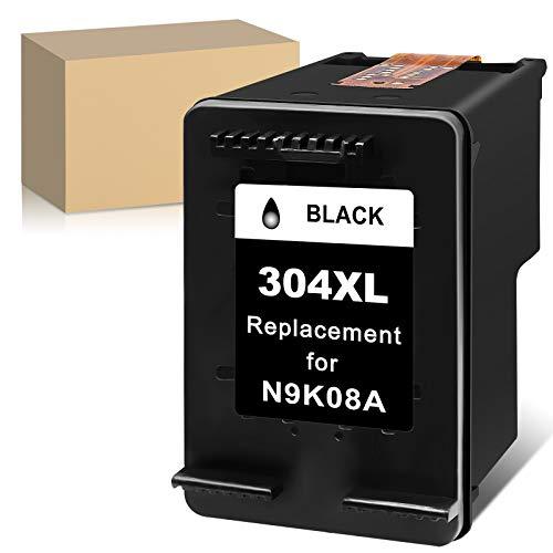 ATOPolyjet Remanufactured for HP 304 XL 304XL Cartucho de Tinta 1 Pack para Envy 5020 5030 5032 5050 5055 Deskjet 2630 2620 3720 3730 3733 2622 2634 2652 AMP 100 130 120 125 (1 Negro)