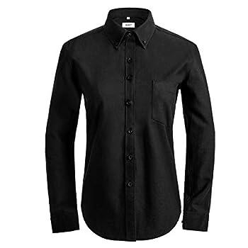 womens black oxford shirts