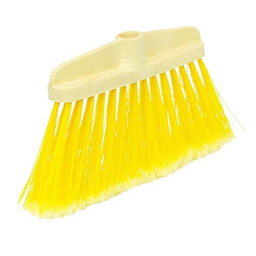 Spontex 97061005 Besen Ersatz extra Lange gefranste Kunststoffborsten 35 cm gelb Straßenbesen, 35x16,5x5 cm