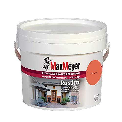 MaxMeyer Pittura per esterni Quarzo Rustico MATTONE 2,5 L