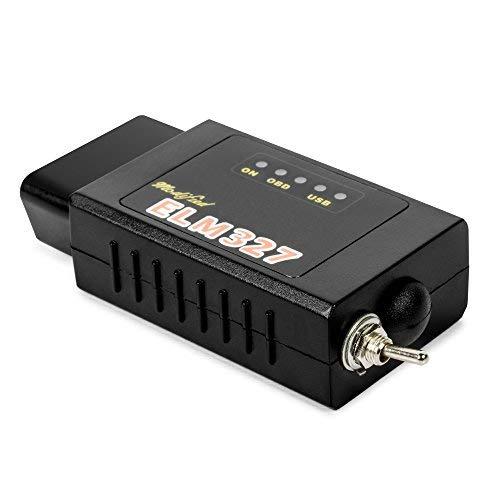 GLLC Forscan ELM327 Interfaz de Diagnóstico OBDII Compatible con Bluetooth con interruptor para Ford Mazda HS-CAN/MS-CAN Lector de Código OBD2 para Android