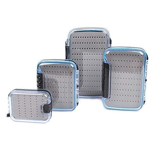 Dr.Fish Waterproof Fly Fishing Box Slit Foam Easy Grip Flies Case...