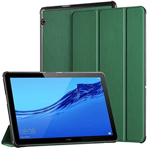 EasyAcc Cover Custodia Compatibile con Huawei MediaPad T5 10 2018, Ultra Sottile Smart Custodia Cover in Pelle PU con Supporto Funzione Compatibile con Huawei Mediapad T5 10 2018 Tablet,Verde Scuro