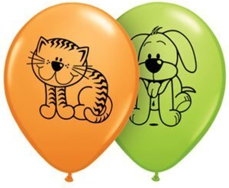 ofrecemos varias marcas famosas Single Single Single Source Party Supplies - 11 Cuddly Kitten & Puppy Latex Balloons Bag of 25 by Single Source Party Supplies  marca de lujo