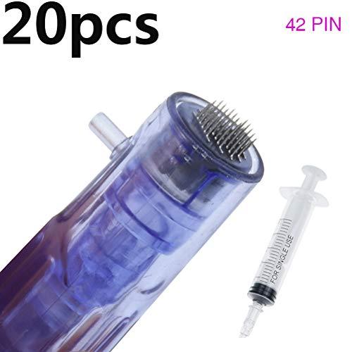 Portable Smart Injector Pen Facial Machine, Hydra Injector Aqua Derma Pen, 9/12/24/36/42 Pin Needles, 3D NANO/5D NANO/ROUND NANO,Microneedle 42 pins