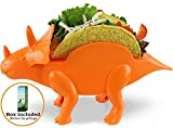 Triceratops Taco Holder - Dinosaur (Holds 2 Tacos!) Orange Color - for Jurassic
