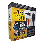 FONCBIEN VHS to Digital Converter - [Actualizar] USB 2.0 Video Audio Grabadora De Captura Adaptador Tarjeta V8 / Vi8 VHS a DVD Convertidor TV DVR VCR CCTV Videocámara a PC para y Windows 10/8