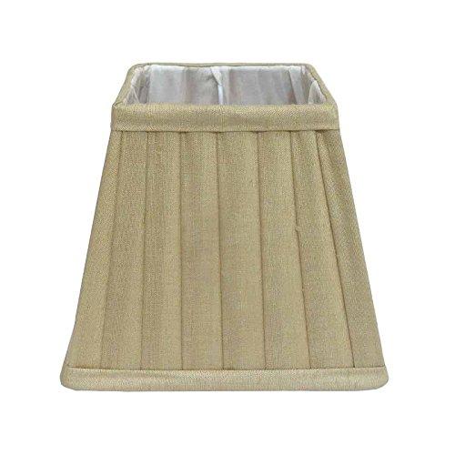 Better & Best lampenkap van zijde, vierkant, smalle plank, 15 cm, beige