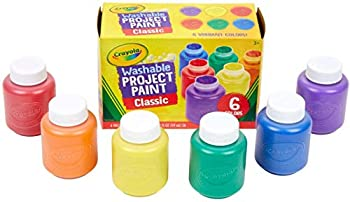 Crayola Washable Kid s Paint - 6 Per Package