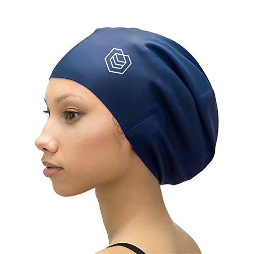 SOUL CAP XL – extra große Badekappe/Schwimmkappe/Bademütze/Duschhaube | für langes Haar, Dreadlocks, Weaves, Extensions, Rastazöpfe, Locken & Afrohaare | für Frauen und Männer | Silikon