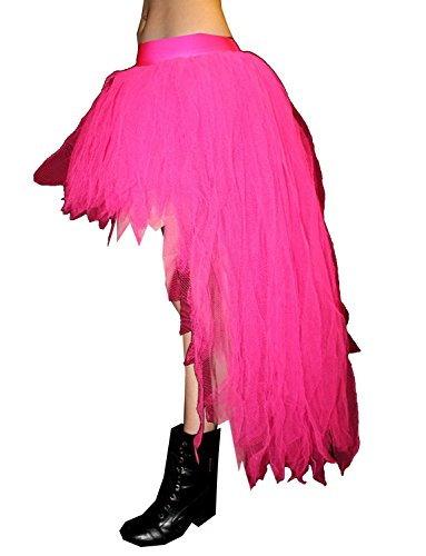 Insanity - Falda de tutú de pavo real (7 capas) Rosa rosa Talla única