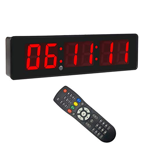 2inch 6Digits Wall Clock LED Countdown Timer for...