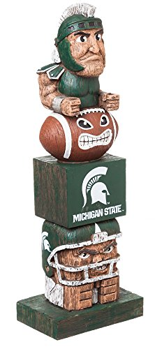 Team Sports America NCAA Michigan State Spartans Tiki Totem