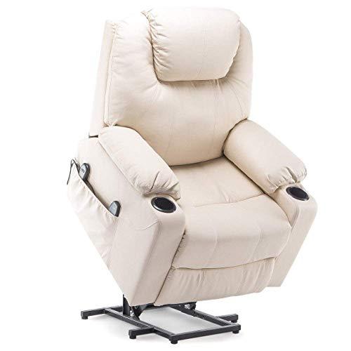 N/Z Living Equipment Silla Power Lift Sillón reclinable Masaje eléctrico Calor y vibración para Ancianos Sala de Estar Salón Sofá de Masaje Negro Estados Unidos