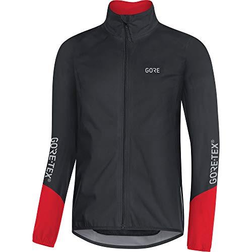 GORE Wear C5 Men's Cycling Jacket GORE-TEX, M, Black/Red