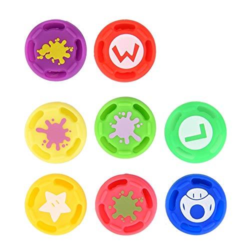 Zerone Lot de 8 boutons de manchette, boutons de rechange en silicone pour commutateur Pro