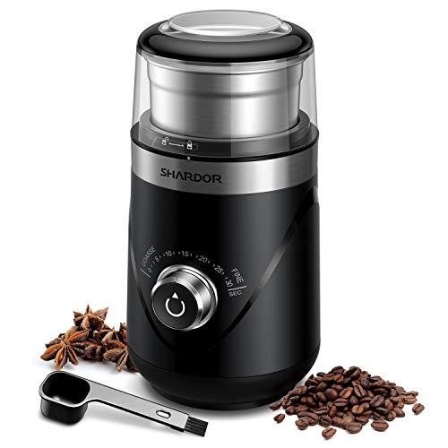 SHARDOR Adjustable Coffee Grinder Electric, Spice Grinder, Coffee Bean Grinder, Espresso Grinder...