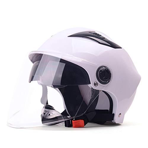 WCTK Beschermhelm voor de motor, zomerzonwering, ventilatie en dubbele schijf