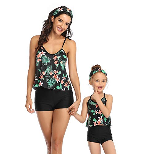 2 Stuks Vrouwen Bikini Set Ouder-Kind Outfit Moeder Dochter Badpakken Bijpassende Familie Zwemkleding
