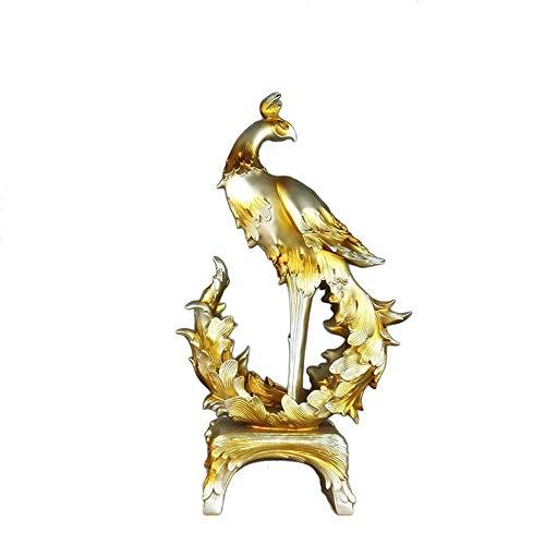 DAMAI STORE Startseite Weichverpacktes Harz Bastelt Phoenix-Ornamente, Um Werbegeschenke Zu Öffnen (Farbe : Gold)