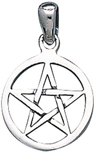 Alterras - Anhänger: Pentagramm-Drudenfuß im Kreis aus 925-Silber