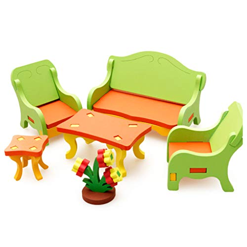 MiSha 1 Juego de Accesorios para casa de muñecas, tocador, Juego de Muebles para casa de muñecas,...