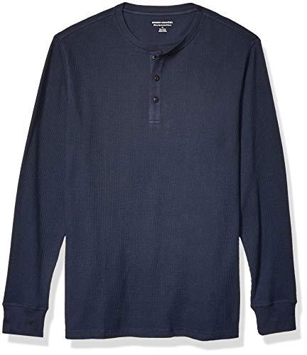 Amazon Essentials Slim-Fit Long-Sleeve Waffle Henley Shirts, Dainty, US (EU XS)