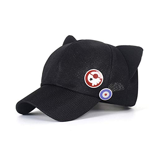 Fnito Baseball Cap Neon Genesis Soryu Katzenohren Hut Cosplay Kostüm Polar Plüsch Kappe Mit Abzeichen