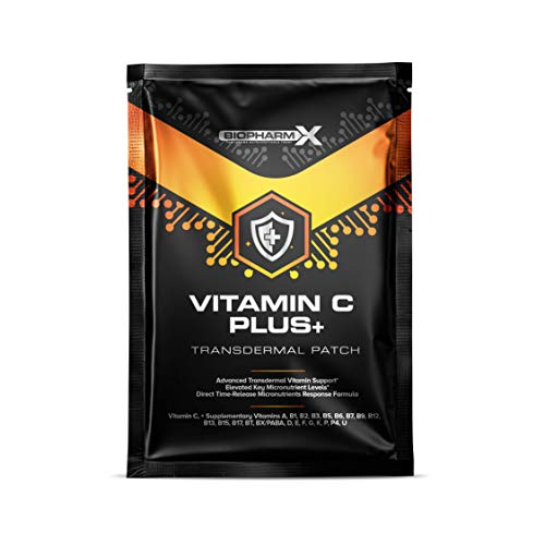 Vitamin C 1000mg Patch Plus+ (30 Day Supply) Maximum Strength & Bioavailability - Significantly More Effective Than Vitamin C Tablets!