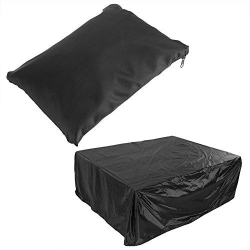 Housse de Protection Meuble Haute Qualité Couvercle Noir Étanche Bâche Couverture et Assises Rectangulaires Anti-UV Anti-Pluie Anti-Poussière Table de Jardin(200*160*70CM)