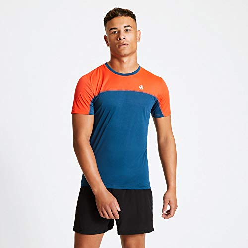 Dare 2b T-Shirt Notable T-Shirts/Polos/Vests Homme Majolica Blue/Trail Blaze FR: L (Taille Fabricant: L)