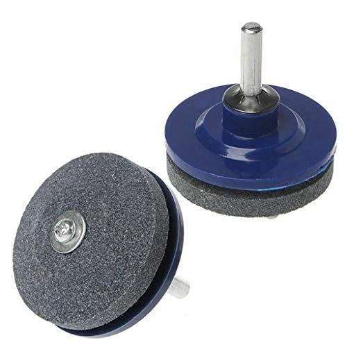 About1988 Schleifscheibe für Gartenwerkzeuge/Rasenmähermesser, Universal-Gartengeräte schneidet Drehbohrmaschine Rasenmäher-Schärfgerät Blade Sharpener (2PC)