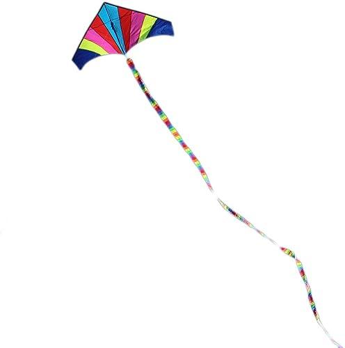 10 mètres Rainbow Bar Cerf-Volant Queue pour Delta Kite Stunt Kites Enfants Cerf-Volant Couleuré Enfants en Plein Air Fun Sport Jouets (Couleur   Couleurful)