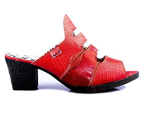 TMA 1171 Damen Sandaletten Leder rot - EUR 39