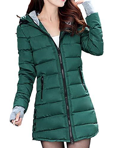Nvfshreu winterparka dames gewatteerde jas lange mouwen fit lang slim comfortabele maten verdikt warm grote maten outdoorjas winterjas met capuchon