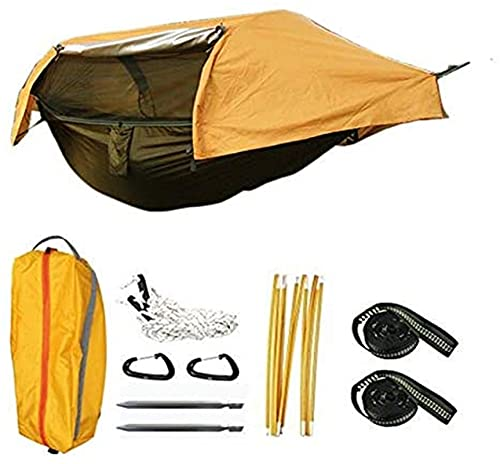 MCE Hamaca Multifuncional Ultraligero en paracaídas de paracaídas de la Hamaca de la Tienda aérea para el Campamento al Aire Libre (Color : Orange)