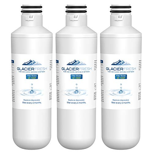 GLACIER FRESH Water Filter LT1000PC Replacement for Refrigerator, Compatible with LT1000PC/PCS, LT1000PC, LT-1000PC, MDJ64844601, ADQ747935 ADQ74793504 Water Filter (3 Pack)