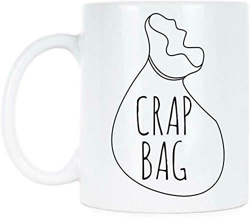 Lplpol Crap Bag Mug Crap Bag Friends Coffee Mug Funny Princess Consuela Banana Hammock 11 oz