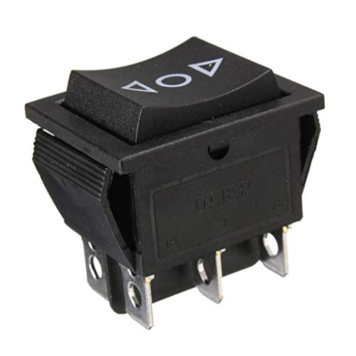 Interruptor de la Ventana 6 Pin DPDT Power Window Interruptor de rockero momentáneo AC 250V / 10A 125V / 15A para Ventana DE Coche SUNROOF Doble Pole/Lanzo Campo MUMPARIO reemplazo