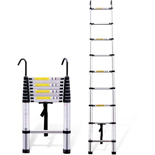 DGHJK Escaleras telescópicas Escalera telescópica, Escalera Plegable de aleación de Aluminio Engrosada, Escalera telescópica con Gancho, Escalera de extensión Multiusos para Uso Diario en el hogar