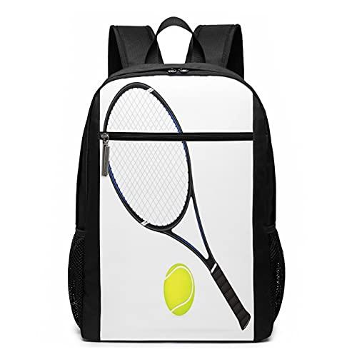 OMNVEQ Mochila Escolares Pelota de Raqueta de Tenis de remos, Mochila Tipo Casual para Niñas Niños Hombre Mujer Mochila para Ordenador Portátil Viaje