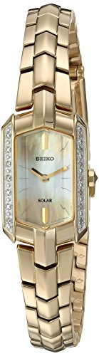 Seiko Women's Japanese Quartz Stainless Steel Watch, Color:Gold-Toned (Model: SUP330)