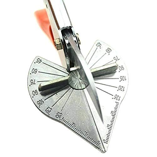 YUNB Tijeras multiángulo ajustables de 45 a 135 grados, con hoja de acero SK5, para fontaneros, electricistas, carpinteros