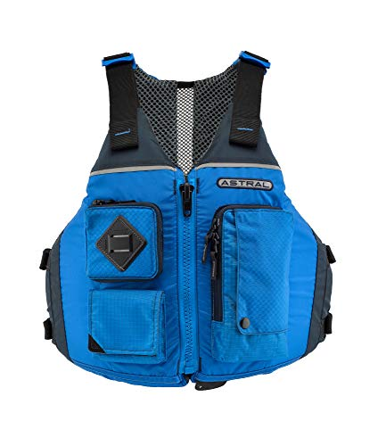 Astral Ronny Life Jacket PFD for Recreation, Fishing, and Touring Kayaking, Deep Water Blue, Large/X-Large