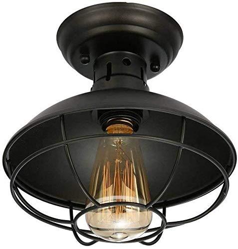 Lámpara de techo Vintage lámpara retro vintage luces colgantes retro luces colgantes E27 socket, máx 60 vatios para cocina cafetería bar loft restaurante oficina guardarropa etc