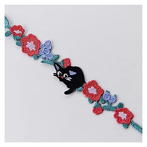 LYWER Gato mi Vecino Totoro Pulsera Bordada Mano Cuerda de Cuerda Pulsera para Hombres y Regalo de San Valentín de Las Mujeres ( Color : G )