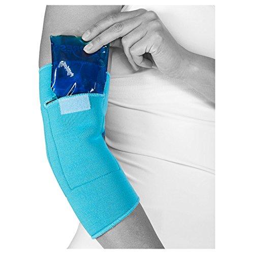 cool&move Ellenbogen Bandage L, inkl. Kalt- / Warm-Kompressen, bei Sportverletzung und Gelenkschmerz